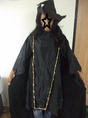 Disfraz Bruja Fondo Capa Y Sombrero Usado Talla L T/virtual