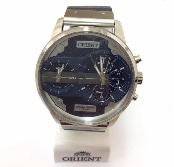 Relógio Orient Cronógrafo Com Pulseira De Couro Mbsc T002