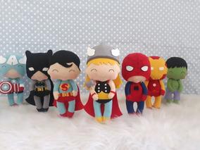 Kit 8 Super Heróis Em Feltro