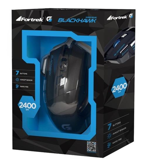 Mouse Gamer Fourtrek Blackhawk 2400 Dpi Om703