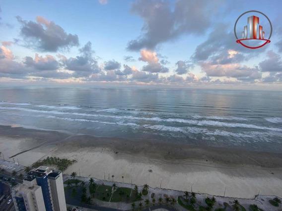 Extraordinário Apartamento Com 2 Dormitórios E 1 Suíte Frente Para O Mar À Venda, 70 M² Por R$ 420.000 - Mirim - Praia Grande/sp - Ap1900