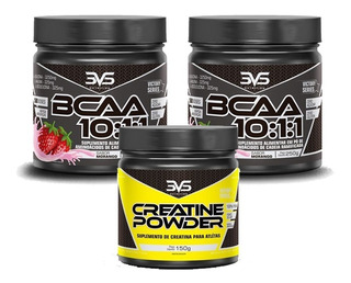Kit Massa Muscular 2unid. Bcaa 10:1:1 + Creatina 150gr 3vs