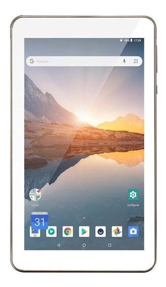 """Tablet Multilaser M7S Plus 7"""" 16GB dourado com memória RAM 1GB"""