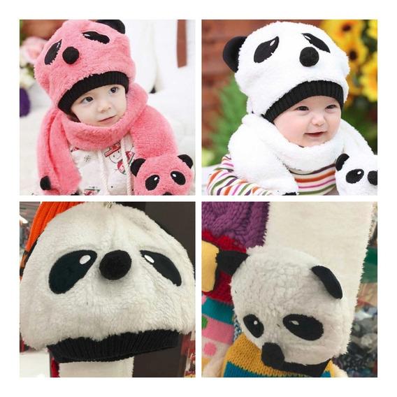 Gorro Panda Bebe Frio Invierno Baby Niños Niñas Gorritos