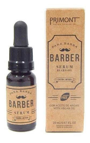 Primont Barber Serum De Barba Con Aceite Argan Barberia 20ml