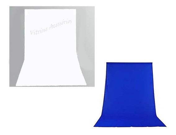 2 Tecido 3x3 Azul/branco Fundo Infinito Estúdio Fotográfico Youtuber Foto Chroma Key Igreja Ringligth Escola
