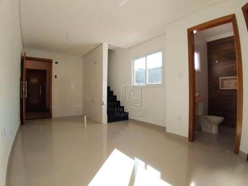 Imagem 1 de 24 de Cobertura Com 2 Dormitórios À Venda, 74 M² Por R$ 378.000,00 - Parque Erasmo Assunção - Santo André/sp - Co4566