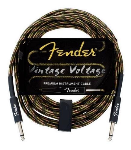 Cable Plug Fender Revestido Para Guitarra Bajo Audio 6 Mts