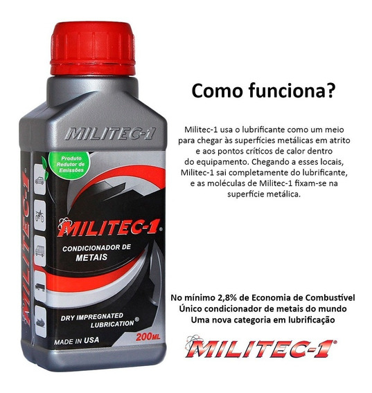 Militec-1 Condicionador De Metais 200ml-100%original