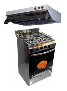 Combo Cocina Mahe Acero + Purificador Acero 50cm C/s Salida