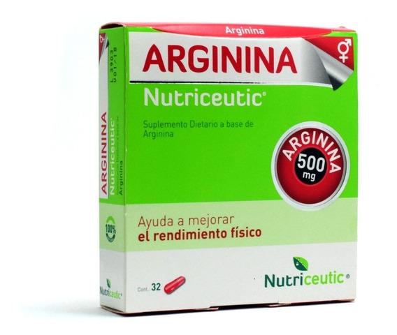 Arginina Potenciador Sexual Rendimiento Fisico X 32 Capsulas