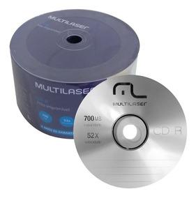100 Cd-r Multilaser 700mb 80min 52x Logo
