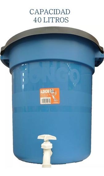 Bote De Plástico Para Agua Con Llave De 40 Litros
