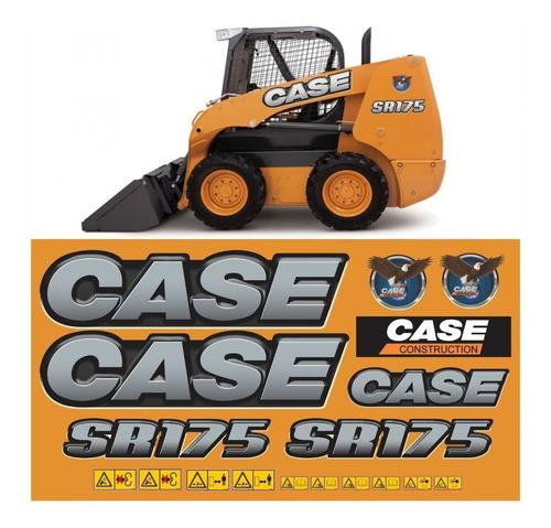 Kit Adesivo Mini Carregadeira Case Sr175 + Etiqueta Mk