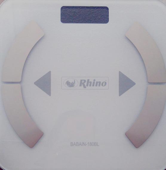 Báscula Para Baño Rhino Mod. Babain-180bl, Pesa Hasta 180kg