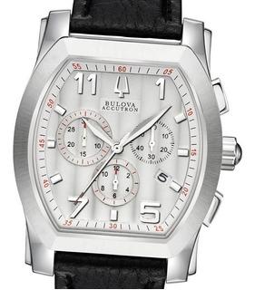 Reloj Bulova Accutron 63b145 Stratford Suizo Zafiro 50m Wr
