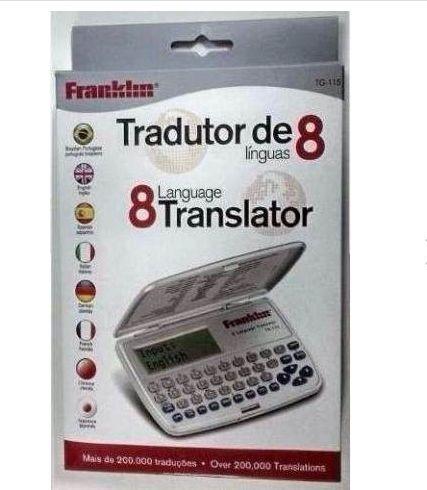 Tradutor Franklin Tg115 8 Idiomas Português Inglês Espanhol