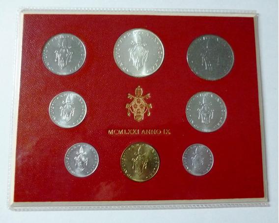 Vaticano Set De 8 Monedas En Blister 1971 Unc Pablo Vl