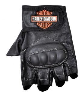 Luva Motociclista Harley Davidson Em Couro Legitimo Oferta!
