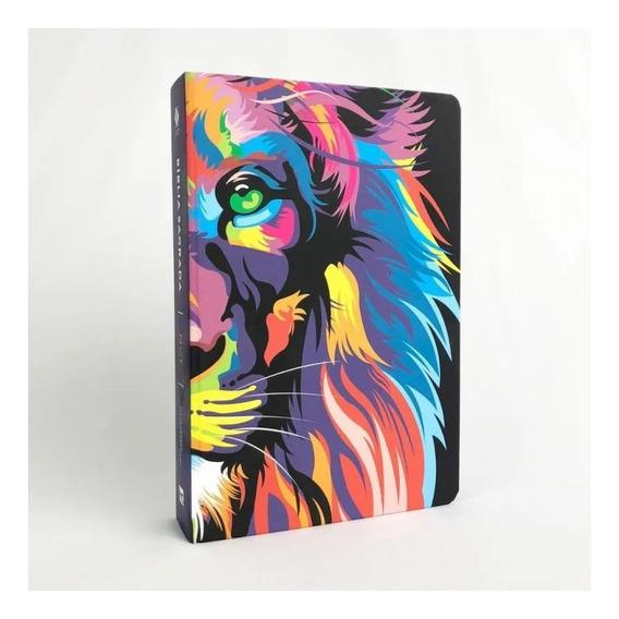 Bíblia Sagrada Nvt Lion Color Leão Colorido