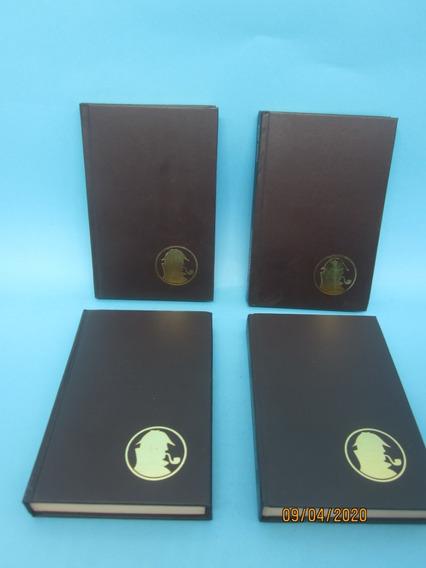 Coleção 4 Livros Sherlock Holmes Aventuras Histórias Terror