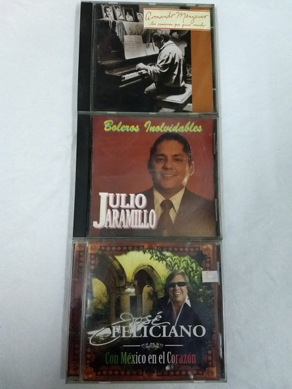 Cd-bolero-lote 3cd-jaramillo-manzanero-feliciano-onda Luis