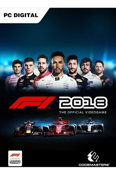 F1 2018 + 2 Brindes (mídia Física) Pc - Dvd