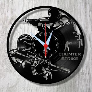 Cs Counter Strike Pc Game Classic Relógio Vinil Parede Lp