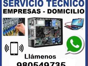 Servicio Técnico De Computadoras Y Laptop A Domicilio