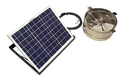Rand Solar Powered Attic Gable Fan-20 Watt Panel Ventilador