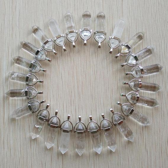 Pingente Biterminado De Cristal / Pedra