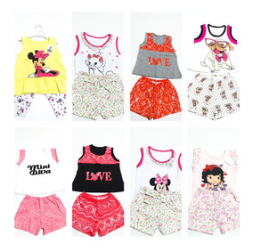 Oferta Kit 12 Conjuntos Roupa Menina Infantil 0 A 2 Anos