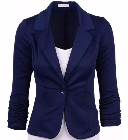 Blazer Fem Fashion Ótima Qualidade, Tecido Bengaline