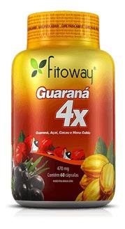 Guaraná 4x - 470mg - 60 Cápsulas