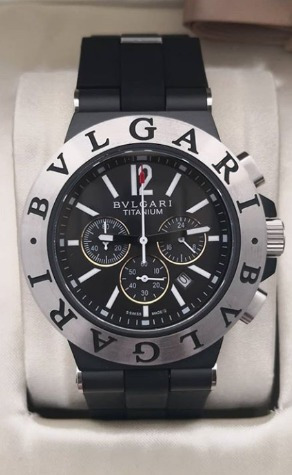 Relógio Masculino Bullgari Aluminium Pulseira De Borracha