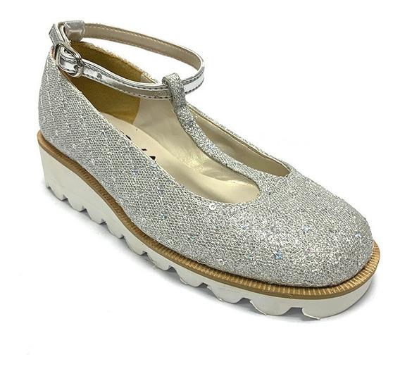 Zapatos Eva Niña Plateado Ev Nz3 Corpez 23