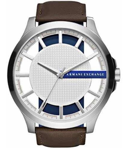 Relógio Armani Exchange Ax2187 Pulseira Em Couro 100% Orig.