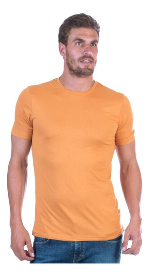 Playera Cuello Redondo Lisa, Slim Fit Stretch Varios Colores