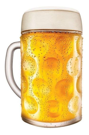 Caneca Chopp Vidro Caneca Cerveja Alemã Mass Krug 1 Litro