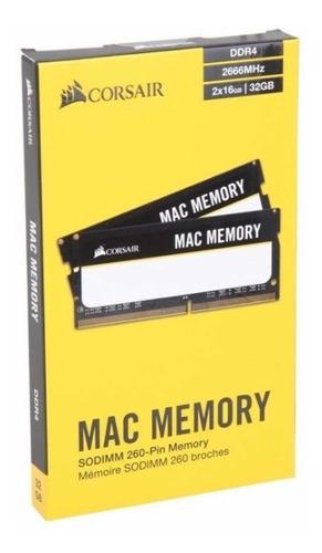Imagem 1 de 5 de Memória Ram 32gb (2x16gb) 2666mhz Corsair iMac 5k 2018a2020