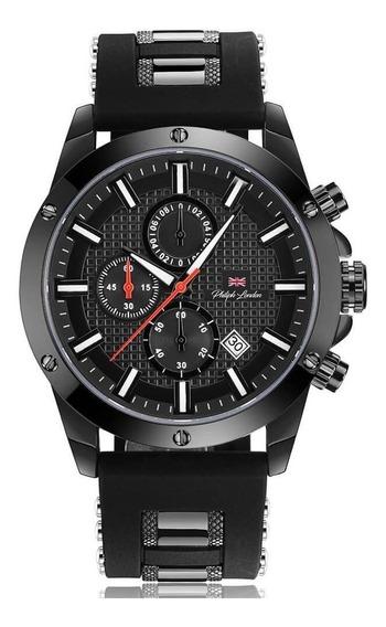 Relógio Masculino Cronógrafo Preto Silicone Pl80069612m
