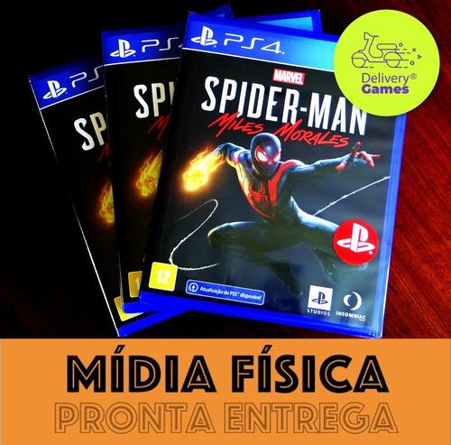 Spider Man Miles Morales Ps4 Ps5 Mídia Física Lacrado + Nf