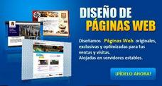 Diseño De Paginas Web Con Dominio Y Alojamiento - Us$ 50.00