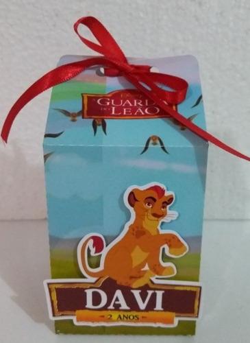 Imagem 1 de 3 de 30 Caixa Milk 3d Personalizada / Tema Guarda Do Leão.