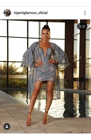 Conjunto Kimono+vestido Pedraria Perfect Way 2020