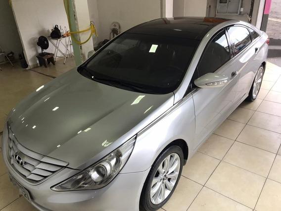 Hyundai Sonata Prata Interior Vermelho 2.4 16v Aut 4p