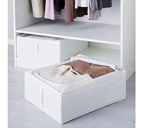Ikea Skubb Caja De Almacenamiento Debajo De La Cama, Blanco,