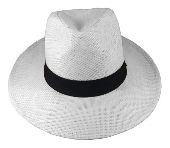 Chapéu Panamá Aba Larga Social Clássico Importado