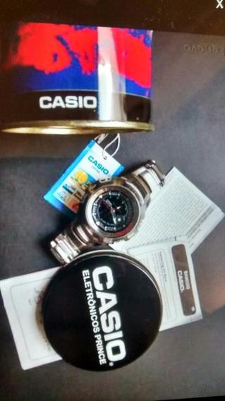 Relógio Original Casio Gshock Gsteel Aço Na Caixa Papeis