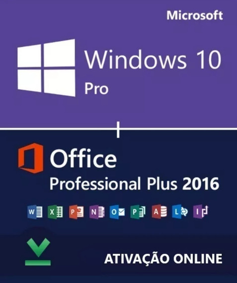 Windows 10 Pro Office 2016 Pro Chave Licença Download
